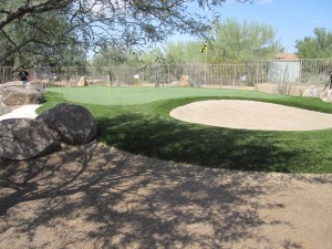 Phoenix putting green designed and installed by Southwest Greens of the Valley