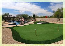 phoenix backyard putting greens golf green installation